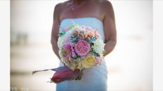 Beautiful bouquet at Annie & Carlo's wedding at Watergate Bay Hotel. Photography by Tyrone Mackenzie.
