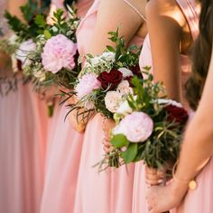 More pretty maids! Such an awesome shot by Bridesmaids, Bridesmaid Dresses, Cabbage Roses, Rose Wedding, Pretty Little, Table Decorations, Weddings, Awesome, Instagram