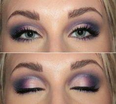 Purple pink eye look.