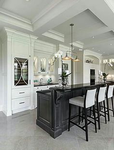Kitchen Model Homes toll brothers - palladian kitchen with center island | house