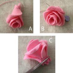 フェルトで今まで作った事のない立体的なバラに挑戦してみました。 ポイントは木工用ボンドを使う事。 これで花びらに立体感を出しました。 バタークリームで出来たようなレトロな薔薇を中心にフェルトの花でバレッタを飾って完成! フェルト、バレッタ、お花を付けるグルーガンなど材料は全て100円ショップで手に入ります。 難しくないので、是非作ってみてください。