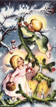 Christmas vintage card.