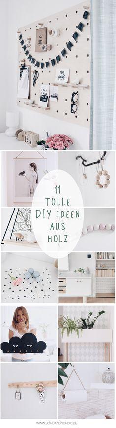 Die Schönsten DIY Ideen Aus Holz   11 Bastelanleitungen   DIY Deko Und  Wohnen. Pinnwand