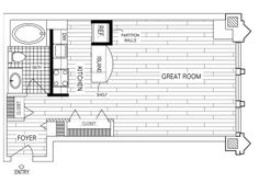 Studio Floor Plan of Property Fisher Building City Apartments. Fisher Building City Apartments, luxury apartment living in the Chicago Loop. Historic renovations with upscale studio, 1, 2, and 3 bedroom apartment homes.