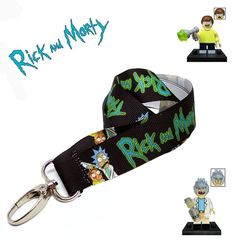 020fadd098e9e0 Rick And Morty Lanyard   Get Schwifty   Comedy   Breakaway   Back To School