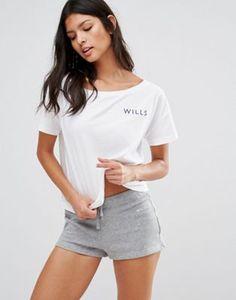 184fc1410b792d Jack Wills White Kilwinning Cropped T-Shirt. Workout ...