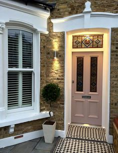 A beautiful Victorian Stained Glass door completed by the team at @ Period Home Style. Any enquiries to info@periodhomestyle.co.uk #victorian #frontdoor #periodhome