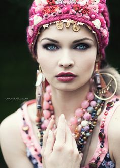 KEEP - Ukranian Bride. Just beautiful. http://boomerinas.com/2012/07/what-kind-of-boots-to-wear-with-boho-dresses/