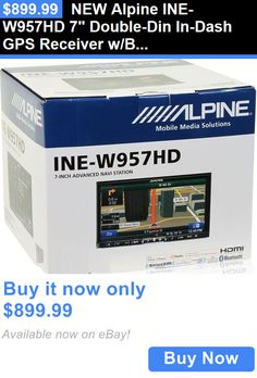 Vehicle Electronics And GPS: New Alpine Ine-W957hd 7 Double-Din In-Dash Gps Receiver W/Bluetooth, Dvd Player BUY IT NOW ONLY: $899.99