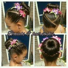 Beautiful look for a flower girl at a wedding