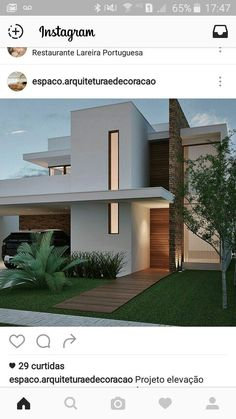 Front of the house House Front Design, Modern House Design, Modern Exterior, Exterior Design, Townhouse Exterior, Ultra Modern Homes, Villa, Modern House Plans, Facade House
