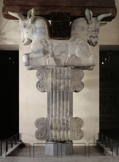 Capital of a column in the hearing room (Apadana) - Palace of Darius. Achaemenid Period about 510 BC. Susa. Louvre museum