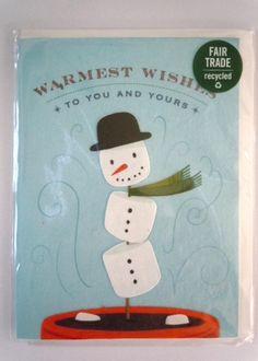 Marshmallow Snowman Greeting Card