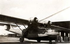 """Consolidated PBY-5A Catalina (YV-P-APJ, c/n 1545) """"La Reina de los Roques"""" of Compañía Anónima Mar Caribe at Ciudad Bolivar airport in December 1947. It was sunk during storm at Puerto Cabello on July 15th, 1948."""