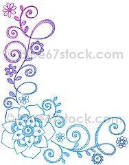 flowering vine drawing