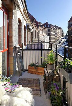 Breed balkon met uitzicht