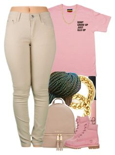 """""""glo ✨"""" by yeauxbriana on Polyvore featuring NARS Cosmetics, MICHAEL Michael Kors, Timberland and Fremada"""