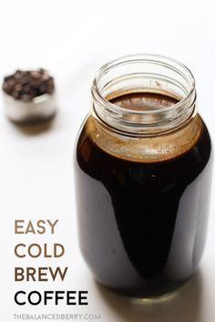 Easy cold brew coffee tutorial via thebalancedberry.com