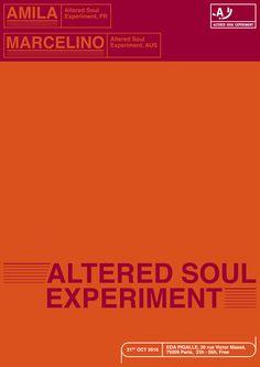 ALTERED SOUL EXPERIMENT x MAISON C.C. / Poster design - Paris issue