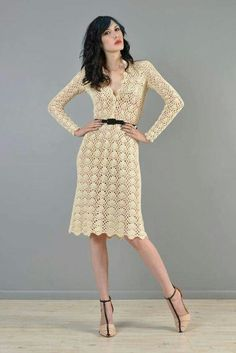 Cream dress - Alternative front