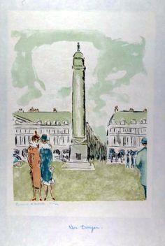 Kees van Dongen - Place Vendôme (1964)