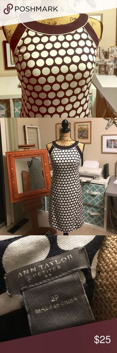 Classic dress by Ann Taylor Beautiful Ann Taylor sheath dress, sophisticated and elegant. It's a perfect choice for a summer event as it's light and cool, yet is lined to provide structure. Ann Taylor Dresses