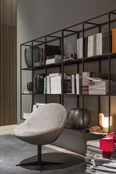 MERIDIANI I Jo armchair I Hardy wall units - design Andrea Parisio