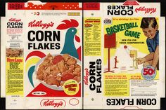 Corn Flakes Box | Kellogg's Corn Flakes - basketball game - cereal box - 1963 | Flickr ...