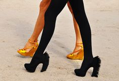 In context, the Yves Saint Laurent Palais Mohawk Pumps make perfect sense