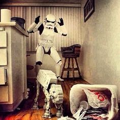 even storm troopers have naughty pets