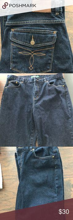 Ralph Lauren Jeans Deep wash Ralph Lauren classic Bootcut jean. Great condition, and cute butt pockets! Size 14 regular Ralph Lauren Jeans Boot Cut