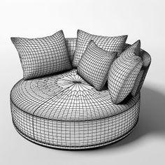 3ds max maxalto sofa rounfd - Maxalto Round Sofa... by shop3ds