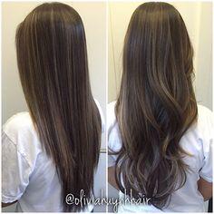 balayage dark hair straight - Buscar con Google …