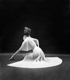 Vanity Fair Pleated Capelet Seated Back   See more Black and White Photography at https://www.1stdibs.com/art/photography/black-white-photography on 1stdibs
