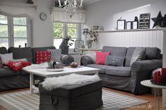 Wohnzimmer in Weiß-Grau-Schwarz Living Rooms // Wohnzimmer ...