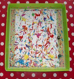 """Peinture aux billes. Ou : faites travailler """"les autres""""... Art Montessori, Diy For Kids, About Me Blog, Diy Crafts, Cool Stuff, Frame, Jouer, Crafts, Manualidades"""