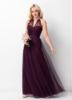 Buy discount Gorgeous Tulle Jewel Neckline Natural Waistline A-line Bridesmaid Dress at Dressilyme.com