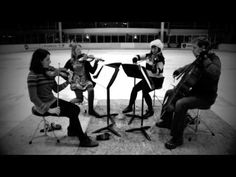 Q: Ever wondered how one might record a String Quartet on an Ice Rink?  Answer: Like this!