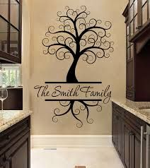 Family Wall Decal - Tree Wall Decal - Family Name Tree Decal -Personalized Decal - Inspirational Wall Decal - Family Wall Decal Family Wall, Family Tree Decal, Tree Decals, Family Names, Custom Wall Decals, Vinyl Wall Decals, Wall Stickers, Family Tree With Pictures, Wal Art