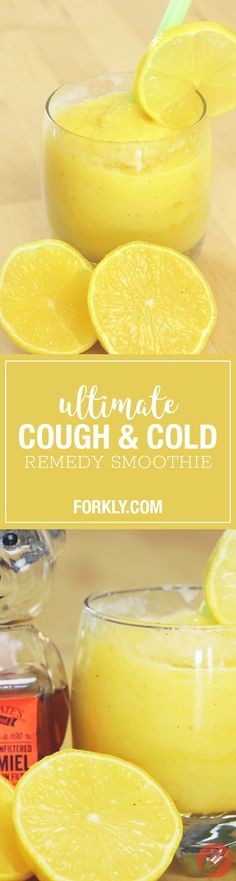Ultimate Cough & Cold Remedy Smoothie: It will not only provide some relief but will help fight off the symptoms and combat your cold in an all-natural way!