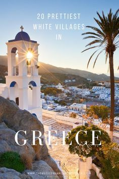 20 Beautiful Cycladic Villages in Greece. Here's where to find Greece's iconic towns and villages with their dazzling white walls, blue domes, pretty chapels and shimmering azure seas. The top 20 most charming and beautiful old whitewashed villages, from Ios to Lindos, Santorini of course, and hidden gems like Anafi. #greece #greekislands #cyclades #europe #villages #tmtb #travel