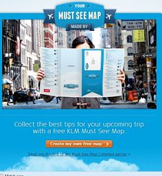 Advertising Universe: KLM: Must See Map