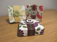 Flip Top box tutorial, using Stampin' Up Crazy About You.