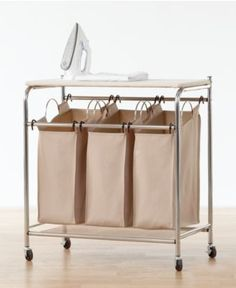 I am in love with this!!--Neatfreak Hampers, Everfresh Laundry Triple Sorter with Ironing Board - Cleaning & Organizing - for the home - Macy's