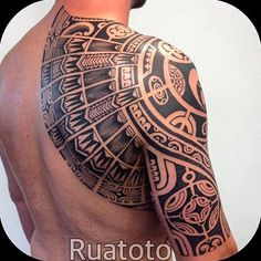 Done by @ruatoto #tribaltattooers #tribaltattoo