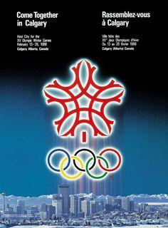 1988 Calgary Canada Olympic Poster