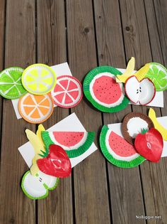 painted paper plates for a fruit ninja party NoBiggie.net  Paper plate fruits   the perfect Summer kid craft
