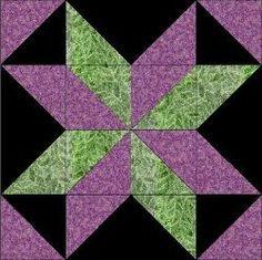 Starflower Quilt Block