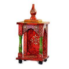 Small Handpainted Embossed Mandir  Or Home Puja - FOLKBRIDGE.COM | Buy Gifts. Indian Handicrafts. Home Decorations.