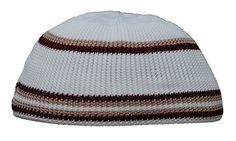 Topi Hat Islam Boys turkish Kufi cap head cover mens hijab Stretchy pair   Homemade Brown 7cb141970950